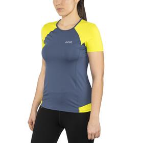 GORE WEAR R5 Koszulka do biegania z krótkim rękawem Kobiety zielony/niebieski